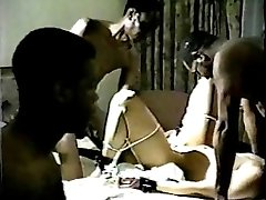 White Wife's Mischievous Retro Black Gangbang 2