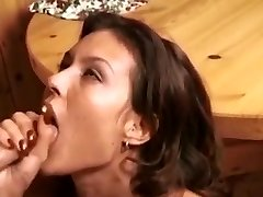 Retro deep throat-facial compilation