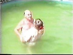 Older duo having Romp in The Pool Part 1 Wear Tweed