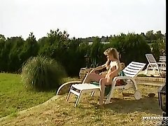 Oceane, Group Sex at the Swimming Pool