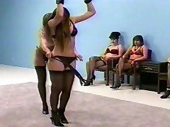 femdom whipping in lingerie (brassiere and fullback pantys)