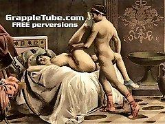 Vintage retro classical gonzo fucking art