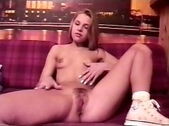 Anna Marek - Platinum-blonde teen from Poland faux-cock
