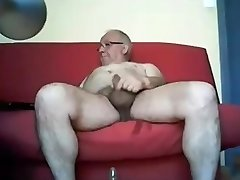 Grandpa stroke on webcam Four