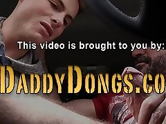 Teen shoots a load for stepfather