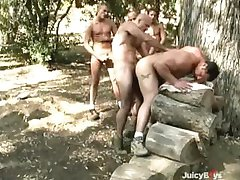 Muscle Guy Gangbang