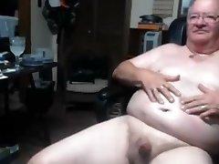 Grandpa cum on webcam 1