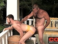 Sexy and bearded Trent Lock gets fucked by hairy man Tim