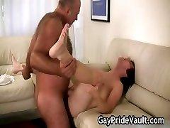 Horny gay bear fucking and sucking part1