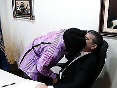Asian twink cocksucking office daddy