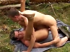 Blonde whore joins two bisexual soldiers in a threesome