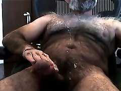 Hot Hairy Bear Cum Hung Load