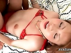 Hairy Asian Bitch Is Fingered And Fucked Hard