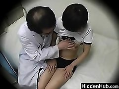 Doctor Plowing Schoolgirls In The Office