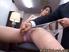 Gorgeous real asian Shiho getting jizm