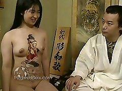 Joy With Tattooed Asian Slut