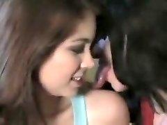 Long Tongue Chicks Kissing