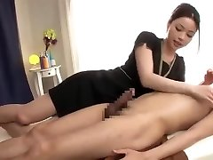 A calming rubdown with a ... very long cumshot!