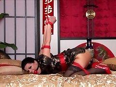 Kimono & Strappado Torture in Sofa