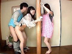 Subtitled Japanese risky fuckfest with voluptuous mummy in law