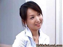 Fantastic real asian Shiho getting jizz part3
