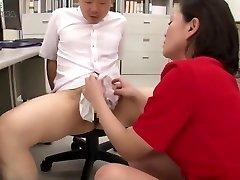 Japanese Nylon Thong Hand Job Cum