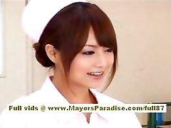 Akiho Yoshizawa Marvelous Asian nurse enjoys taunting the doctor