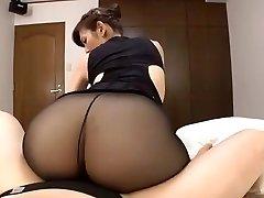 Chinese mature black pantyhose fucky-fucky
