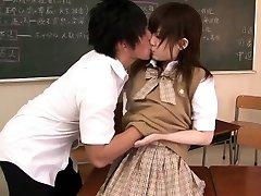 Petite asian schoolgirl penetrated in classroom