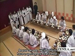 Subtitled Chinese mummies group foreplay dining party