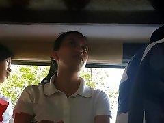 Boso sa jeep. HRM schoolgirl...SARAP ng white panty mo miss!