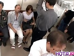 Hot COUGAR Gets Her Pantyhose Pulled Down To Fuck On A Train