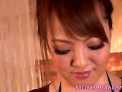 Big-boobed japanese milf breast fucking