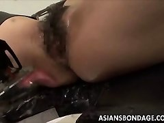 Asian babe bond and fuckd by a penetrating