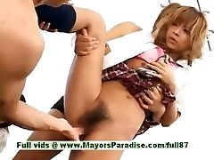 Teen japanese models have joy with an orgy