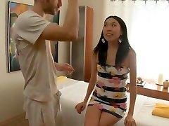 Bony Asian Massaged and Banged