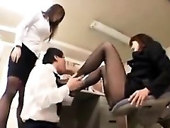Worshipping Nylon Decorated Japanese Feet