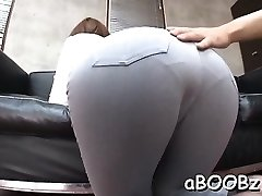 Japan maid with big funbags gets rod in all her moist holes