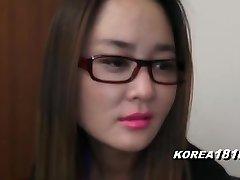 KOREA1818.COM - UPTIGHT Korean Damsel in glasses