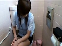 Office Chicks Getting Into Restroom Masturbation