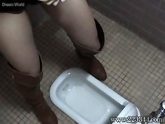 The girl who put it on in a Asian-style toilet