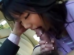 Horny Japanese chick Miu Katahira in Best Car, POV JAV clip