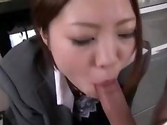 Chinese office deep-throat