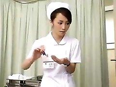 Nurses strain knob that is black