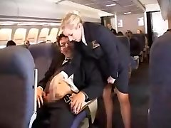 american stewardess hand-job part 1
