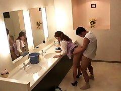 Hottest Japanese damsels Sho Nishino, Yumi Kazama in Amazing JAV censored Fingering, Big Tits scene