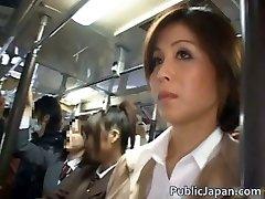 Asian babe has public hookup jav
