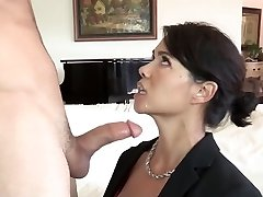 Stepson fucks his asian stepmother