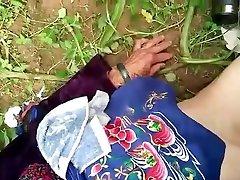 asian granny in nature
