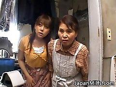 Horny japanese Cougars sucking and fucking